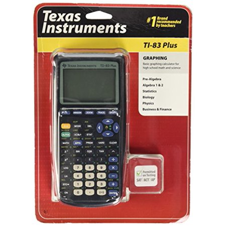 Texas Instruments TI-83 Plus Graphing Calculator Product DescriptionThe TI-83 Plus has a pragmatic key layout and an easy-to-use graphing interface, with a simple programming language for creating conversion programs. The TI-83 Plus stores and analyzes up to 10 matrices combined with data storage in lists containing up to 999 elements per list. You can also solve equations interactively for different variables. With the TI-83 Plus, you can view an equation, its graph, and the coordinates all at one time. Jump from point to point by entering a number. Several useful plot types are available, including scatter, box-and-whisker, XY-line, histogram, and normal probability plots. Advanced statistics and regression analysis, graphical analysis, and data analysis are readily accessed, along with features for calculus, engineering, financial, logarithm, trigonometry, and hyperbolic functions--all crucial tools for advanced analysis. With its clear display and fast processing, the TI-83 Plus incorporates graphing tools for mathematics and science course work, including statistics and finance. Incredibly useful for college boards--PSAT/NMSQT, SAT I, SAT II, Math, IC, and IIC--the TI-83 is essential equipment for advanced placement courses in chemistry, physics, and calculus.Amazon.comFor students in math and sciences, or for anyone new to graphing calculators, Texas Instruments has created the TI-83 Plus--a powerful, problem-solving tool with features for storing, graphing, and analyzing up to 10 functions. Plus, it displays graphs and evaluates tables on a split screen, allowing you to trace the graph and scroll through table values simultaneously. The clear, readable display exhibits 12 characters and eight lines, in 64 x 96 pixels on an LCD screen. The TI-83 Plus has a pragmatic key layout and an easy-to-use graphing interface, with a simple programming language for creating conversion programs. The TI-83 Plus stores and analyzes up to 10 matrices combined with data storag