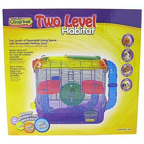 Super Pet CritterTrail Two Level Habitat 16 Inch L x 10.5 Inch W x 16 Inch H