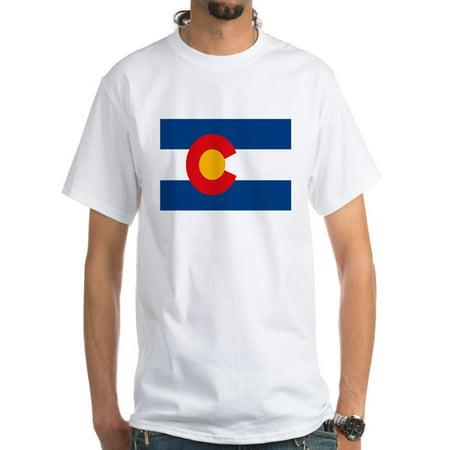 CafePress - Colorado Flag White T-Shirt - Men