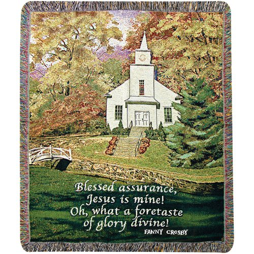 Manual Woodworkers & Weavers Hazel's Church Tapestry Cotton Throw