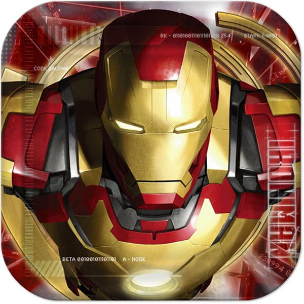 Iron Man 3 Small Paper Plates (8ct)