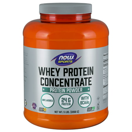 NOW Sports Nutrition, Whey Protein Concentrate Powder, Unflavored, (Best Tasting Grass Fed Whey Protein Powder)