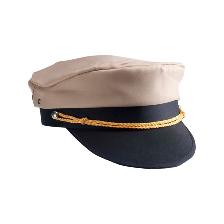 Brown Black Military Officer WW2 General Navy Marines Army Private Costume Hat for $<!---->
