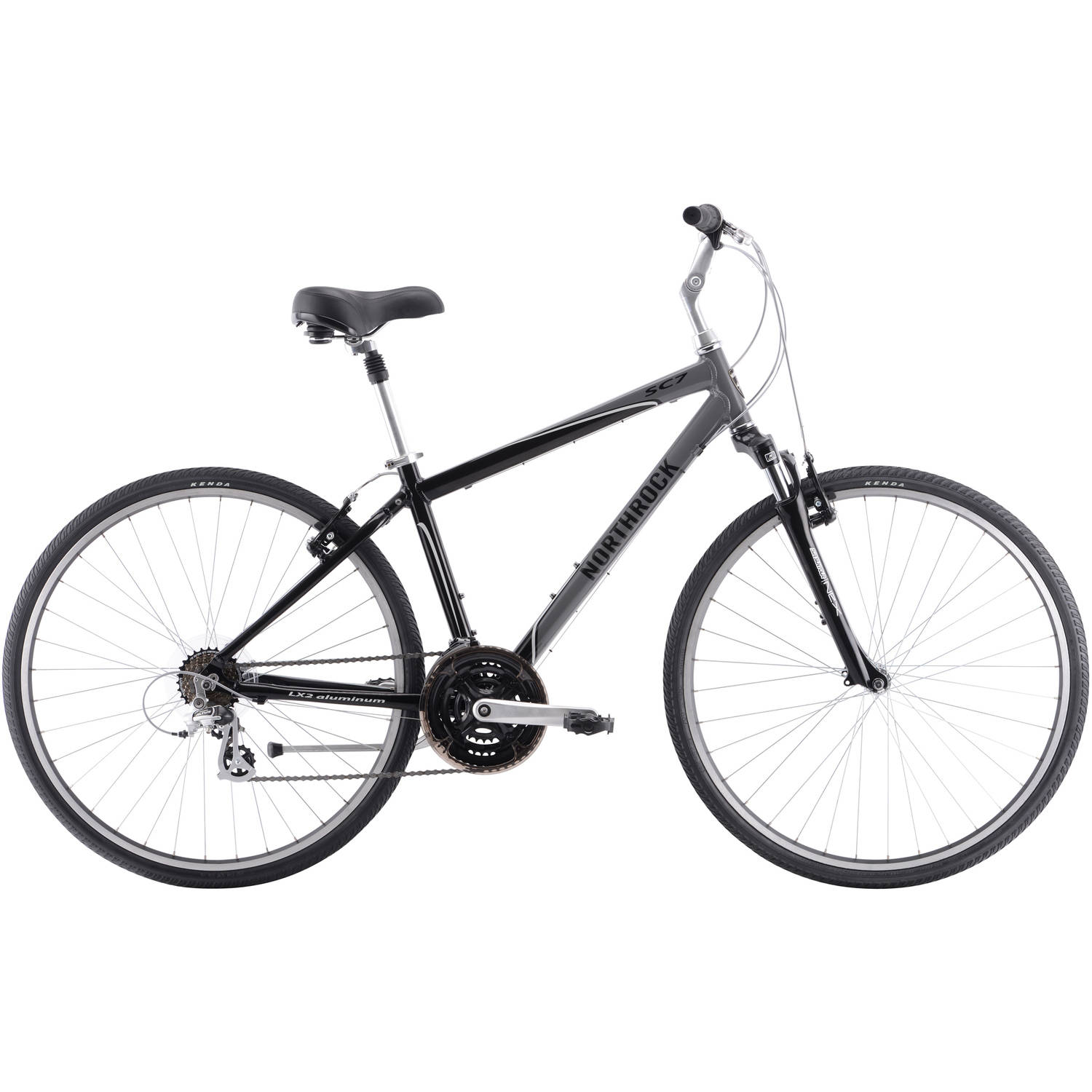 700C Northrock SC7 Men's Comfort Bike, Metallic Black