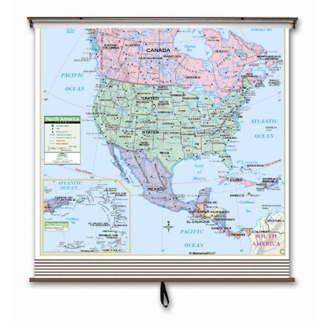 Universal Map 26015 3 Map Primary Wall Map Set-Western He...