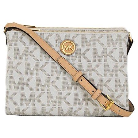 b15297f7d20a Michael Kors - Michael Kors Signature Fulton EW Crossbody Bag PVC Vanilla -  Walmart.com