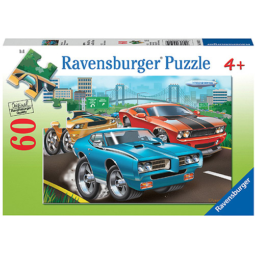 Ravensburger Muscle Cars Puzzle, 60 Pieces