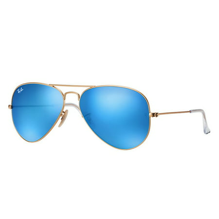 Ray Ban Style Sunglasses - Ray-Ban RB3025 Classic Aviator Sunglasses, 55MM, Flash Lens