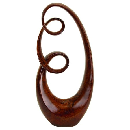 Decmode 31 Inch Modern Abstract Infinity Resin Sculpture, Brown