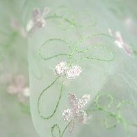 """Altotux 100% Organza Pastel Multi Color Embroidered Lace Fabric 52""""-53"""""""