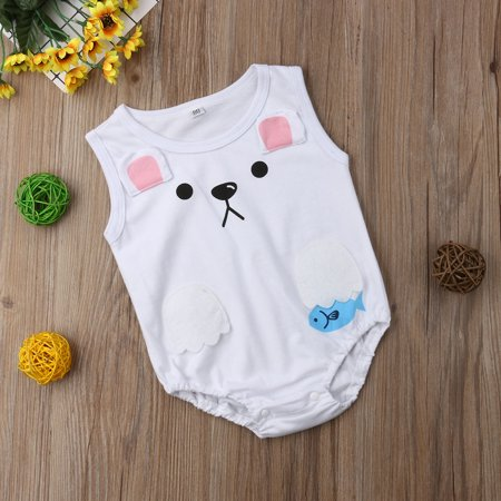 aa4ea86ac Infant Toddler Baby Girls Boys Cartoon Romper Sleeveless Bodysuit Jumpsuit  Playsuit Summer Outfit - Walmart.com