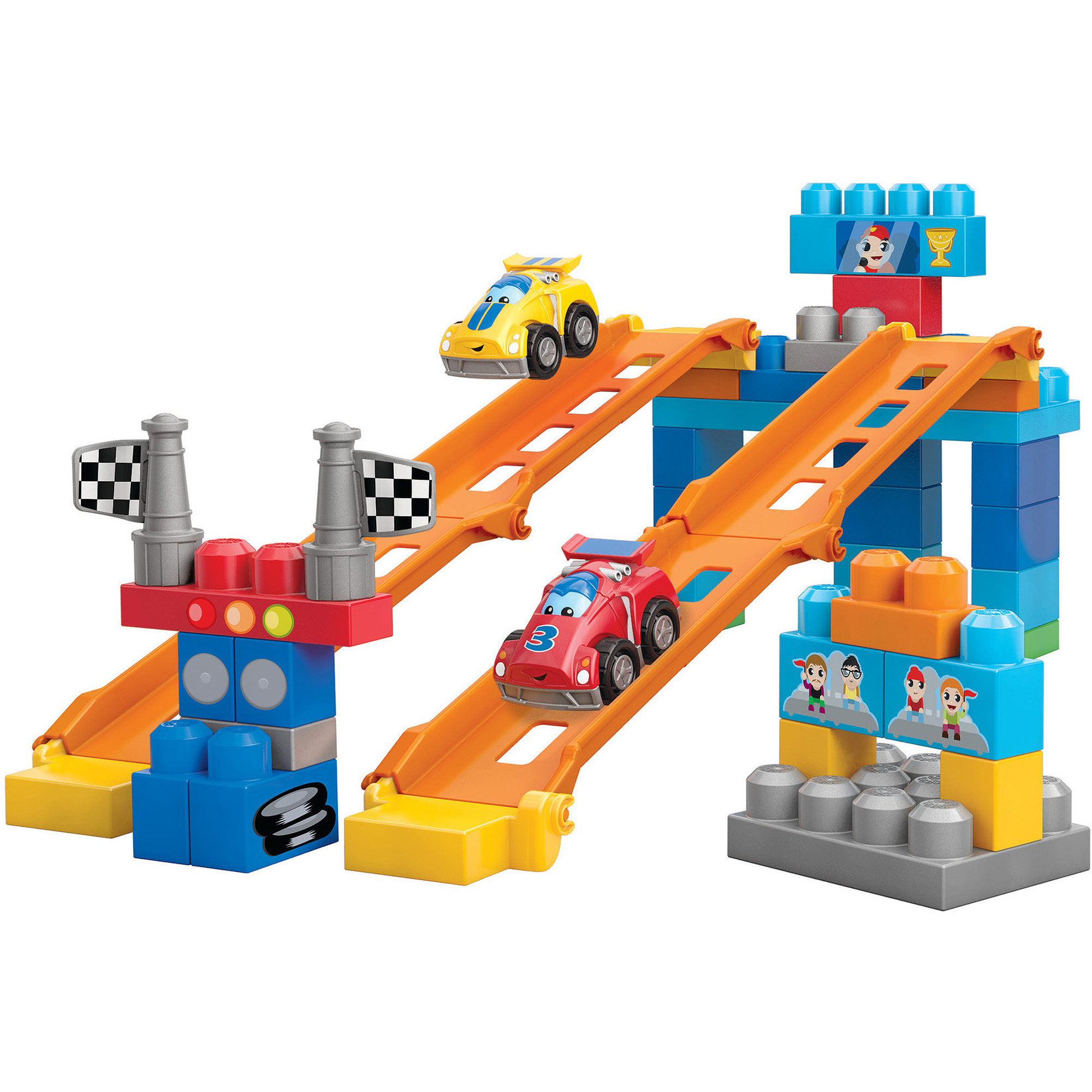 Mega Bloks First Builders Fast Tracks Raceway