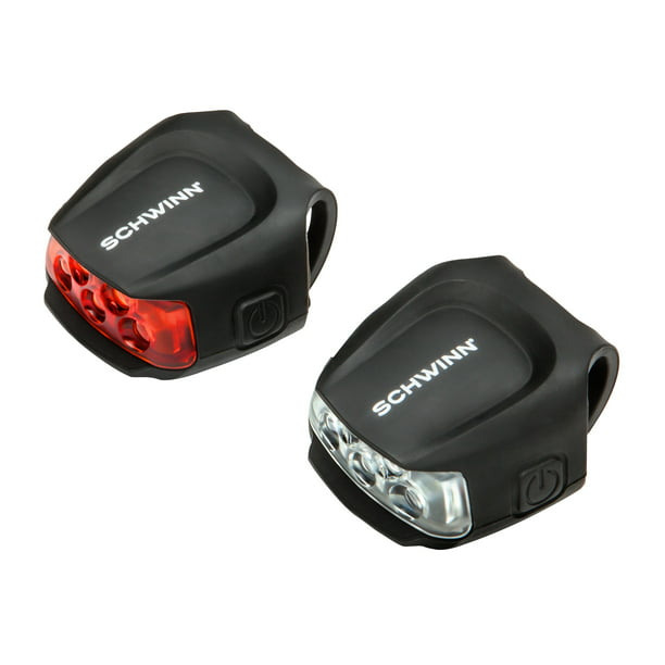 Schwinn 26 Lumen Quick Wrap Light Set, 1 red and 1 white for rear and front, 26 hour run time