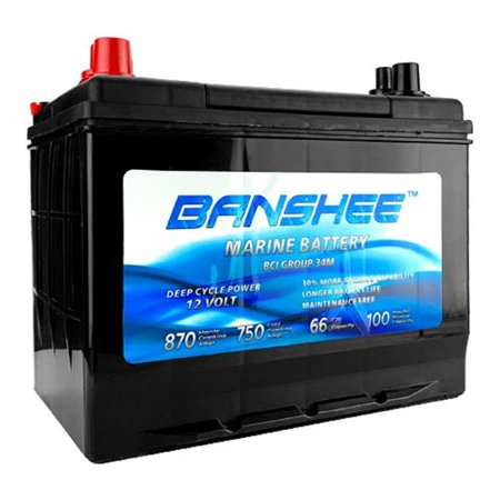Banshee 34M-Banshee-04 Group Size 34 Deep Cycle Battery with Bluetop for Replacement Optima SC34DM 8016-103 D34M