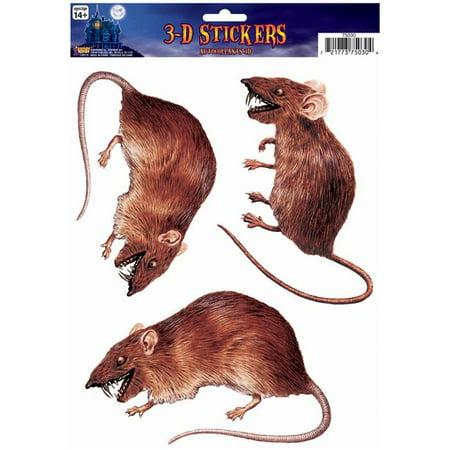 Rat Halloween Costume (Generic FM75030 Rat 3 D Cling)