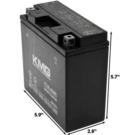 KMG YT14B-BS Battery For Yamaha 1700 MT-01 (EU) 2005-2012 Sealed Maintenance Free 12V Battery High Performance SMF OEM Replacement Powersport Motorcycle ATV Snowmobile Watercraft - image 1 of 3