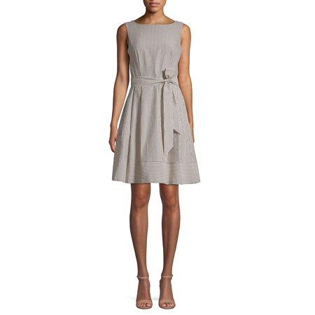 Striped Sleeveless Mini Dress Calvin Klein Womens Swimwear