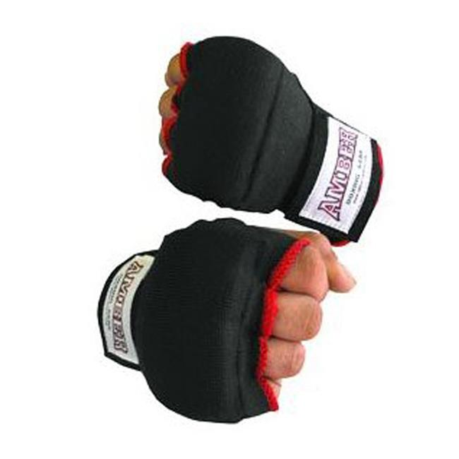 Amber Sports AHR-Q-XL Black & Red Mixing Martial Arts & Boxing Quick Hand Wraps, Extra Large