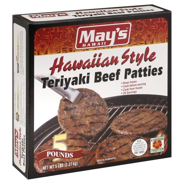Mays Hawaii May'steriyaki Beef Patties