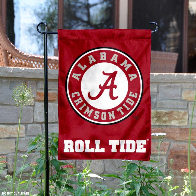"""Alabama Crimson Tide Circle Logo 13"""" x 18"""" College Garden Flag"""