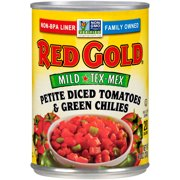 Red Gold Tomatoes Diced with Green Chilies Mild 10oz