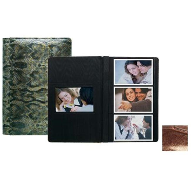 Raika NI 127 BROWN 4in. x 6in. 3 High Photo Album - Brown