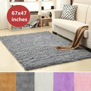 170x120cm Modern Super Soft Real Fluffy Floor Rug Anti-skid Shag Shaggy Area Rug Bedroom Dining Room Carpet Yoga Mat Child Play Mat