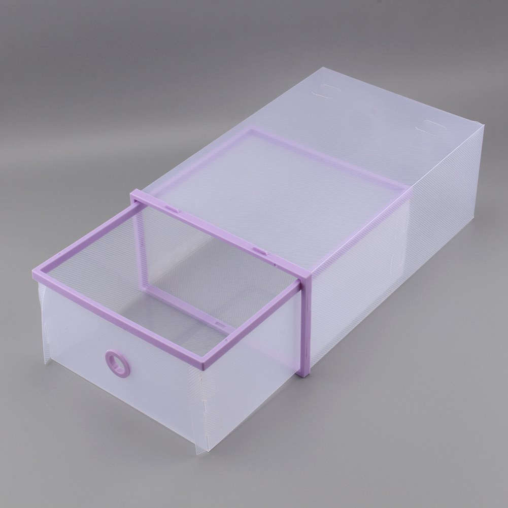 Shoe Box,Ymiko Stackable Simple Style Clear Plastic Shoe Box Home Storage Boxes Office Organiser Drawer,Plastic Shoe Box