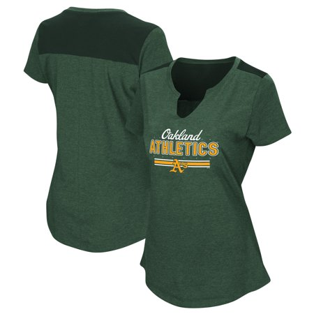 Women's Majestic Green Oakland Athletics Plus Size Switch Hitter T-Shirt ()