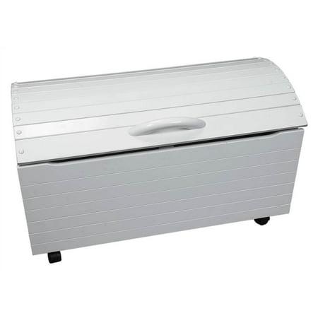treasure chest toy box w white finish casters walmart com