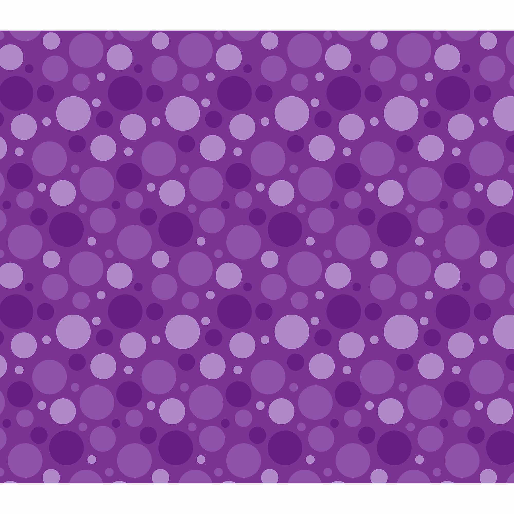 Springs Creative Cotton Blenders Tonal Dot, Purple, Fabric by the Yard