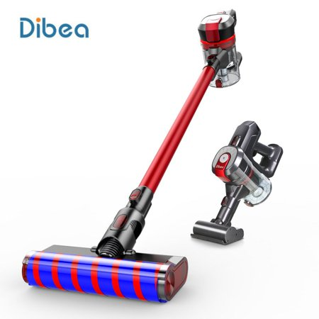 Dibea Cordless Stick Vacuum Cleaner, D008 Pro Wireless Handheld Car Vacuum with 17000pa High Powerful Suction Wall Mounted 4 Stages Filtration for Carpet Wood Floor Car Pet