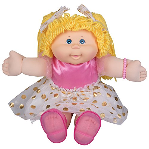"Cabbage Patch Kids Vintage Retro Style Yarn Hair Doll - Original Blonde Hair/Blue Eyes, 16"" - Amazon Exclusive - Easy to Open Packaging"