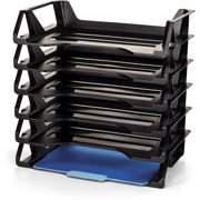 Officemate Achieva Side Load Letter Tray, Recycled, Black, 6 Pack (26212)