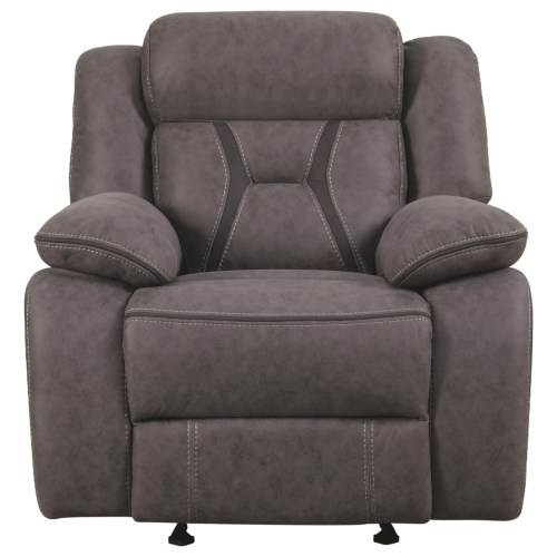 Coaster Leather Loveseat with Grey finish