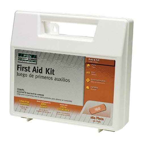 160pc First Aid Kit MSA Safety Works 10049585 Latex-Free ANSI OSHA 25-Person