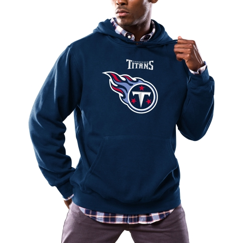 Tennessee Titans Majestic Critical Victory Pullover Hoodie - Navy