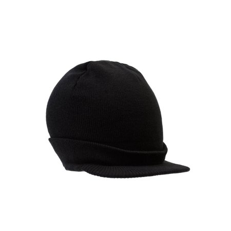 Billed Beanie Cap (Beanie Hat with Bill Knit Cap -)