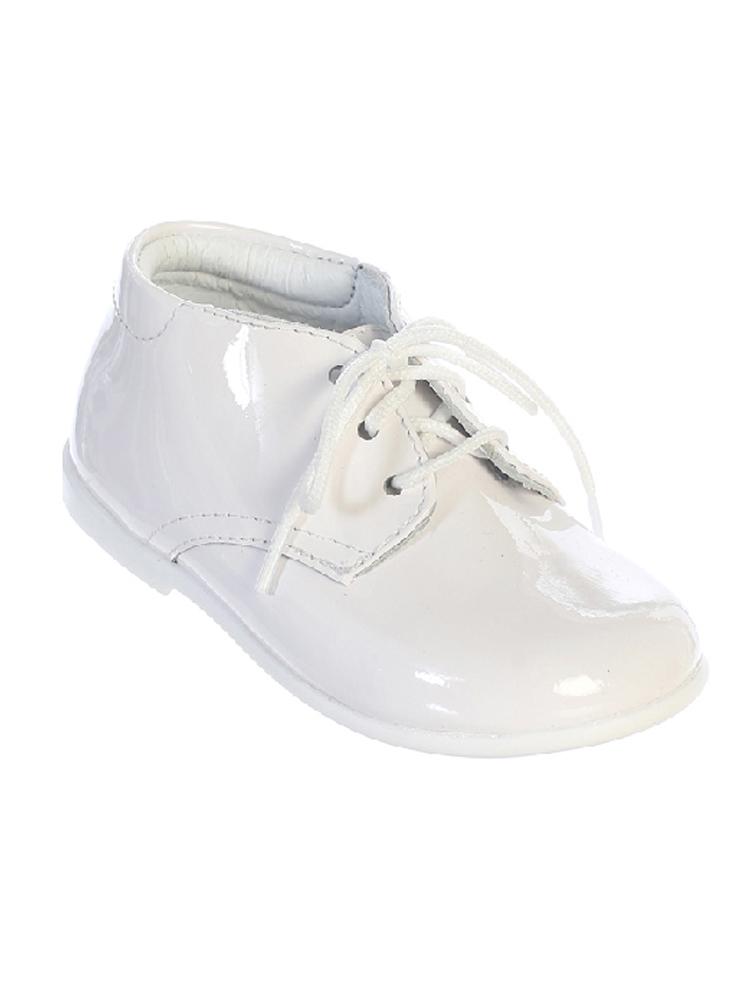 Tip Top Kids White Patent Leather Lace