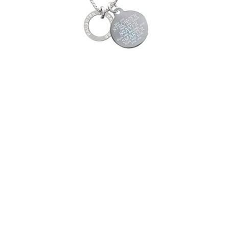 Daughter Eternity Ring Stronger Braver Smarter Engraved Necklace ()