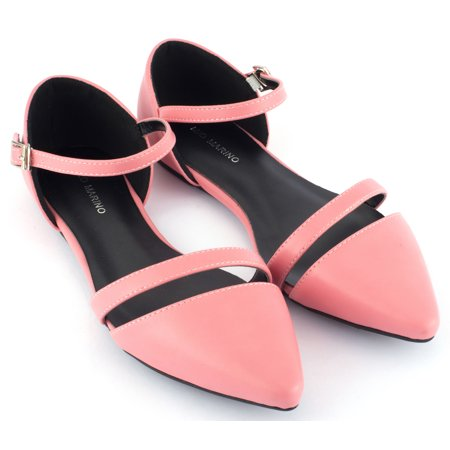 Mio Marino D'Orsay Pointed Toe Flats - Womens Ankle Strap Dress - Avenue Shoes