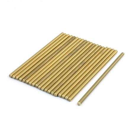 Lathe 50mm x 2mm Brass Axle Round Stock Drill Rod Bar 20Pcs Hot Rod Axle