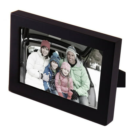 Ademco Home Alarm (4x6 Black Wood Decorative Picture Frame - Wall hanging or Table Top Desktop Display - Made to Display 4x6 Photo, Black matte finish, Materials: wood, glass By)