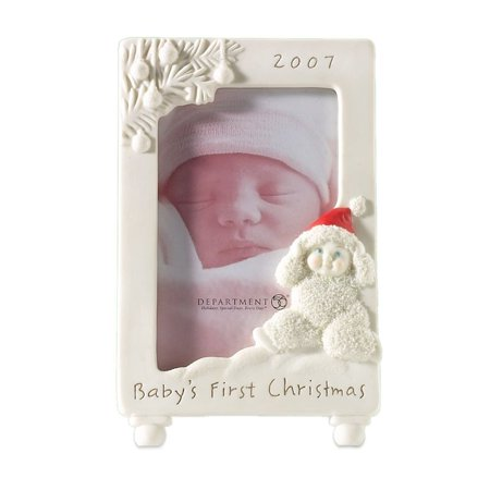Snowbabies Home Sweet Home 56.68394 Baby's First Christmas 2007 Photo Frame Babys First Christmas Photo Holder