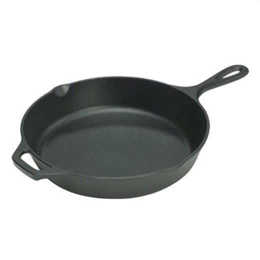 "Lodge Logic Seasoned Cast Iron 10.25"" Skillet with Assist Handle"