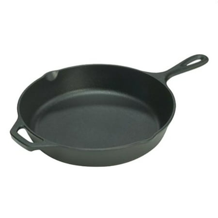 "Lodge Logic 10.25"" Seasoned Cast Iron Skillet, L8SK3, with assist handle"