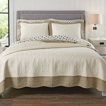 Better Homes & Gardens Solid Border Quilt Collection ()
