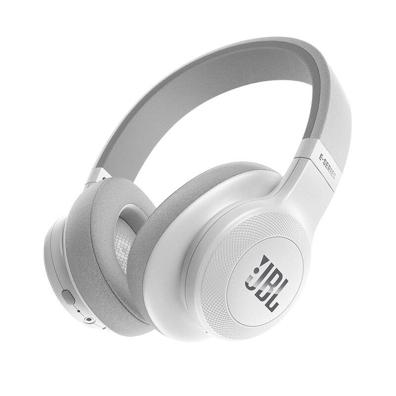 Jbl E55bt Bluetooth Over Ear Headphones With One Button Remote And Mic White Walmart Com Walmart Com