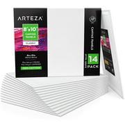 "ARTEZA Canvas Panels, White, 8"" x 10"", Pack of 14"