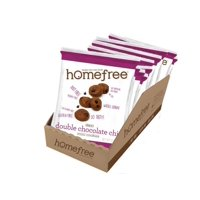 Homefree Treats You Can Trust Gluten Free Mini Double Chocolate Chip Cookie, Single Serve bag, 0.95 Ounce (Pack of 10)